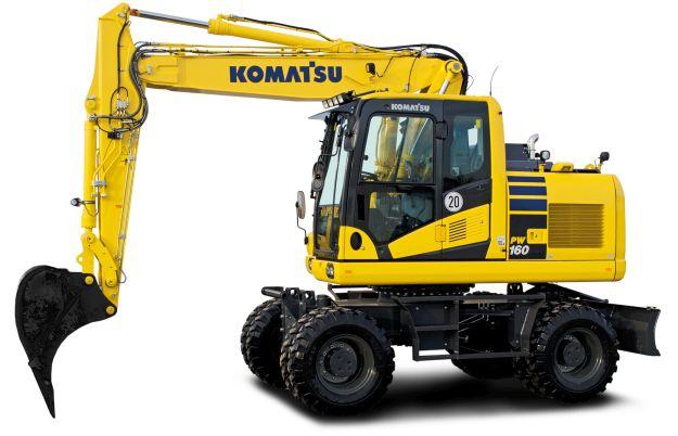 Новият колесен багер Komatsu PW160-11