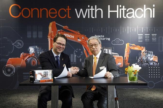 Минибагерите на Hitachi вече се свързват към Global e-Service