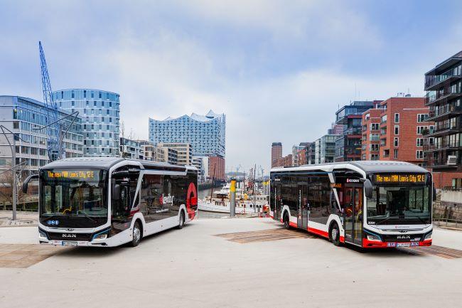 MAN изпраща електрически автобуси към Хамбург